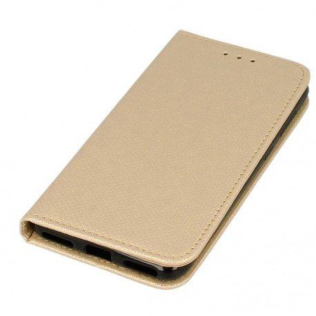 Etui boczne z klapką magnet book Huawei P9 Lite Mini złoty