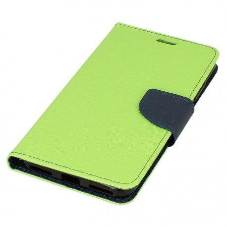 Etui portfelowe Fancy na telefon Xiaomi Redmi Note 5A limonkowy