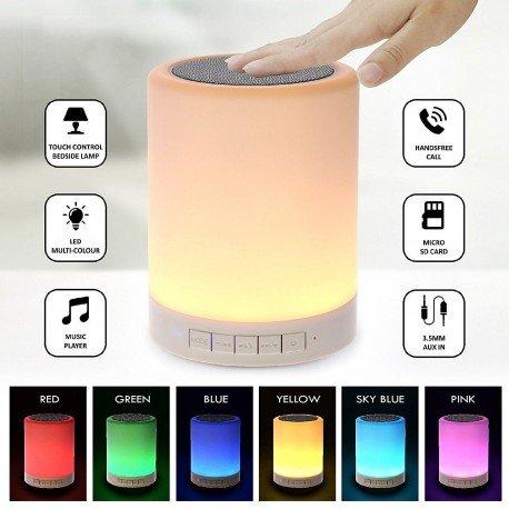 Multimedialny głośnik Bluetooth z lampką do telefonu