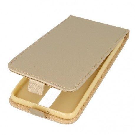 Etui z klapką Flexi do telefonu Huawei Mate 10 Lite złoty