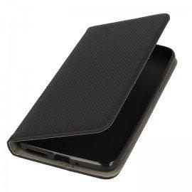 Etui boczne z klapką magnet book Motorola Moto E4 Plus czarny