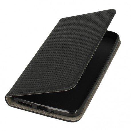 Etui boczne z klapką magnet book Lenovo Moto E4 Plus czarny