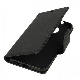 Etui portfelowe Fancy na telefon Motorola Moto G5s czarny