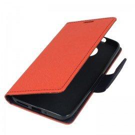 Etui portfelowe Fancy na telefon Motorola Moto G5s czerwony