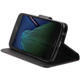 Etui portfelowe Fancy na telefon Lenovo Moto G5s Plus czarny