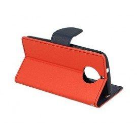 Etui portfelowe Fancy na telefon Lenovo Moto G5s czerwony