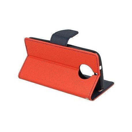 Etui portfelowe Fancy na telefon Motorola Moto G5s Plus czerwony