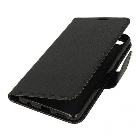Etui portfelowe Fancy na telefon Huawei Honor 7X czarny