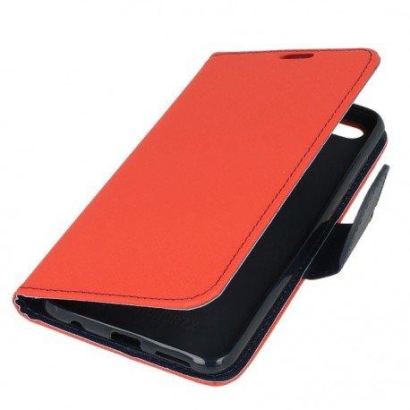 Etui portfelowe Fancy na telefon Huawei Honor 7X czerwony