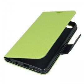 Etui portfelowe Fancy na telefon Huawei Honor 7X limonka