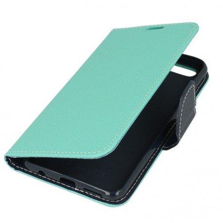 Etui portfelowe Fancy na telefon Huawei Honor 7X mięta