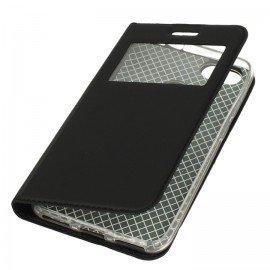 Etui S-View z funkcją podstawki do Huawei P Smart czarny
