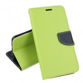 Etui portfelik z klapką na Huawei P Smart limonka