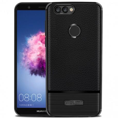 Etui na tył Carbon Case czarny do Huawei Honor 9 Lite