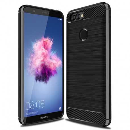 Etui na tył guma Carbon Case Huawei P Smart