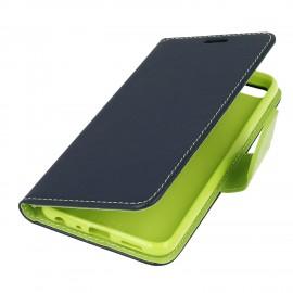 Etui portfelowe Fancy na telefon Motorola Moto G5s granatowy