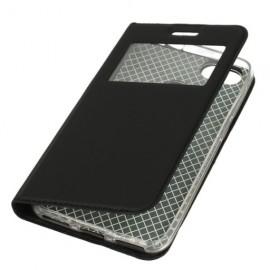 Etui z okienkiem do Huawei Y6 2018 czarny