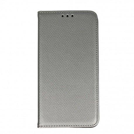 Etui boczne z klapką magnet book Samsung Galaxy J5 2016 J510F srebrny