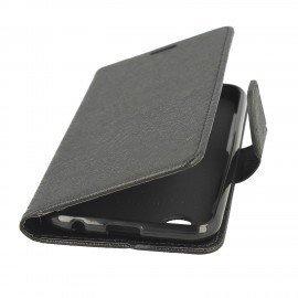 Etui portfelowe Fancy na LG K11 czarny