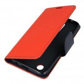 Etui portfelowe Fancy na telefon LG K11 czerwony