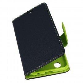 Etui portfelowe Fancy na telefon LG K11 granatowy