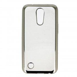 Etui nakładka na telefon Clear Case do LG K10 2017 srebrny