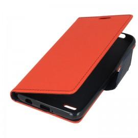 Etui portfelowe Fancy na telefon LG K9 / K8 2018 czerwony