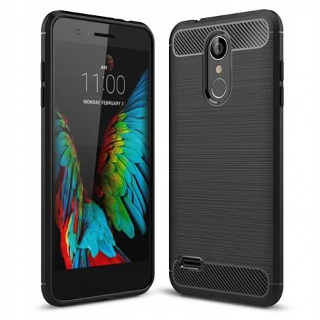 Etui na telefon silikon Carbon Case czarny LG K9 / K8 2018