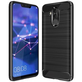 Etui na telefon silikon Carbon Case czarny Huawei Mate 20 lite
