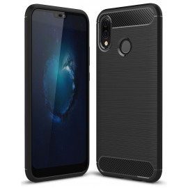 Etui na telefon silikon Carbon Case czarny do Huawei P Smart 2019