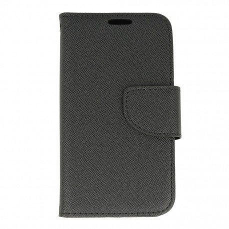 Etui portfelowe Fancy na telefon LG K4 LTE K130e czarny