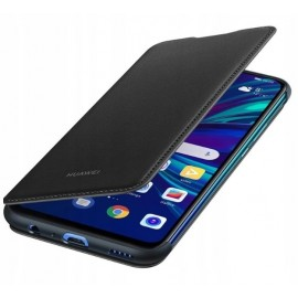 Oryginalne etui Wallet Cover czarny do Huawei P Smart 2019