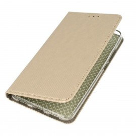 Etui boczne z klapką magnet book Huawei Honor 7A złoty