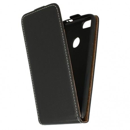 Etui z klapką Flexi do telefonu Huawei Honor 7A czarny