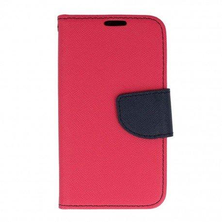 Etui portfelowe Fancy na telefon LG K4 LTE K130e różowy