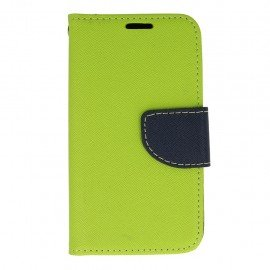 Etui portfelowe Fancy na telefon LG K4 LTE K130e limonkowy