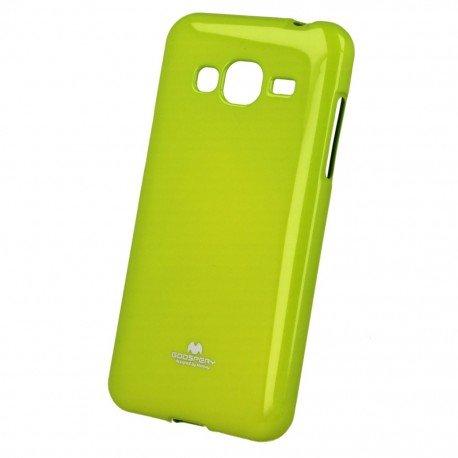 Etui na telefon Jelly Case Samsung Galaxy J7 2016 J710F limonkowy