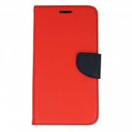 Etui portfelowe Fancy na telefon Samsung Galaxy J7 2016 J710F czerwony