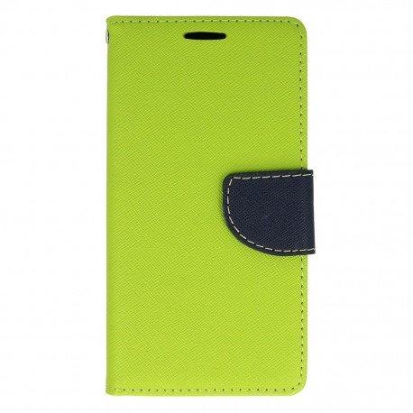 Etui portfelowe Fancy na telefon Samsung Galaxy A3 2016 A310F zielony
