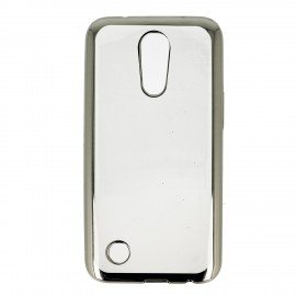 Etui nakładka na telefon Clear Case do LG K8 2017 srebrny