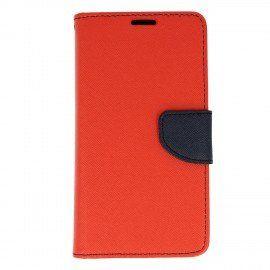 Etui portfelowe Fancy na telefon LG K8 2017 czerwony