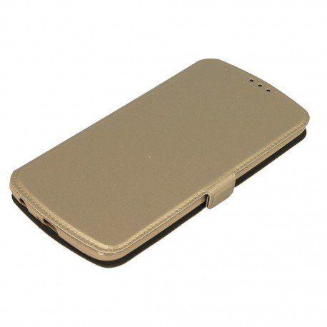 Etui na telefon Pocket Book na LG K10 LTE K430 złoty