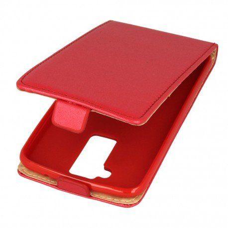 Etui z klapką Flexi do telefonu LG K10 LTE K430 czerwony