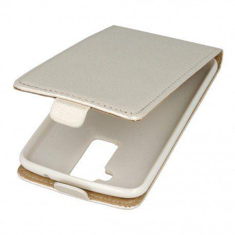 Etui z klapką Flexi do telefonu LG K10 LTE K430 biały