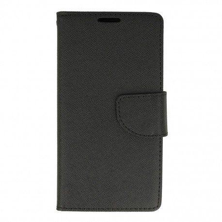 Etui portfelowe Fancy na telefon LG K10 LTE K430 czarny