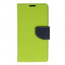Etui portfelowe Fancy na telefon LG K10 LTE K430 limonka