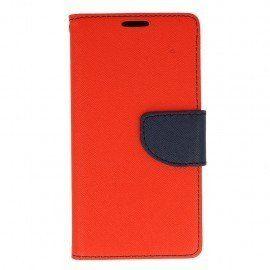 Etui portfelowe Fancy na telefon LG K10 LTE K430 czerwony