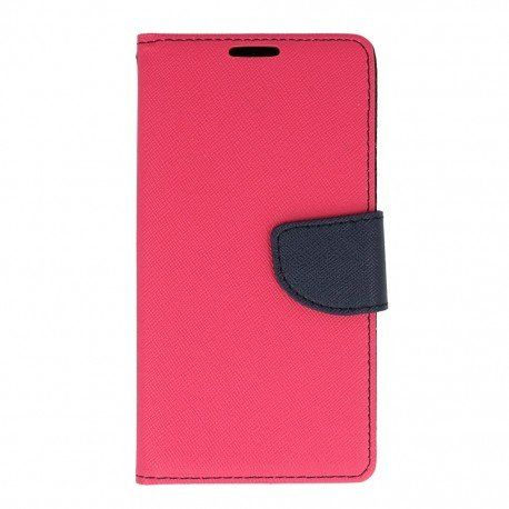 Etui portfelowe Fancy na telefon LG K10 LTE K430 różowy