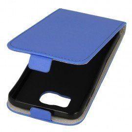 Etui z klapką do telefonu Samsung Galaxy S6 niebieski