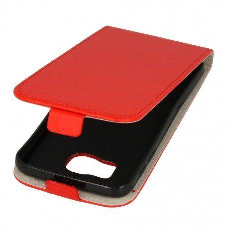 Etui z klapką do telefonu Samsung Galaxy S6 czerwony